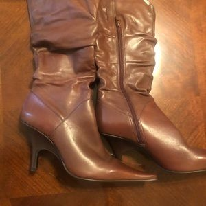 New: Leather Nine West boots size 10 - Brown